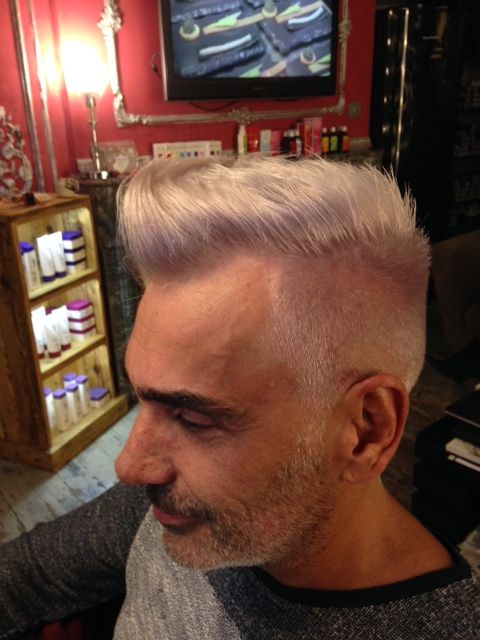 Coupe Homme Vintage Branche Blond Platine Irise3